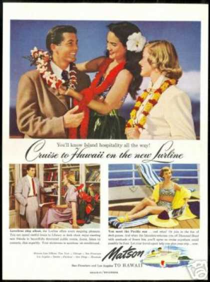 Matson Cruise Line Island Hospitality Photo (1949)