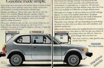 Honda Civic Cvcc &quot;Gasoline Made Simple&quot; (1978)