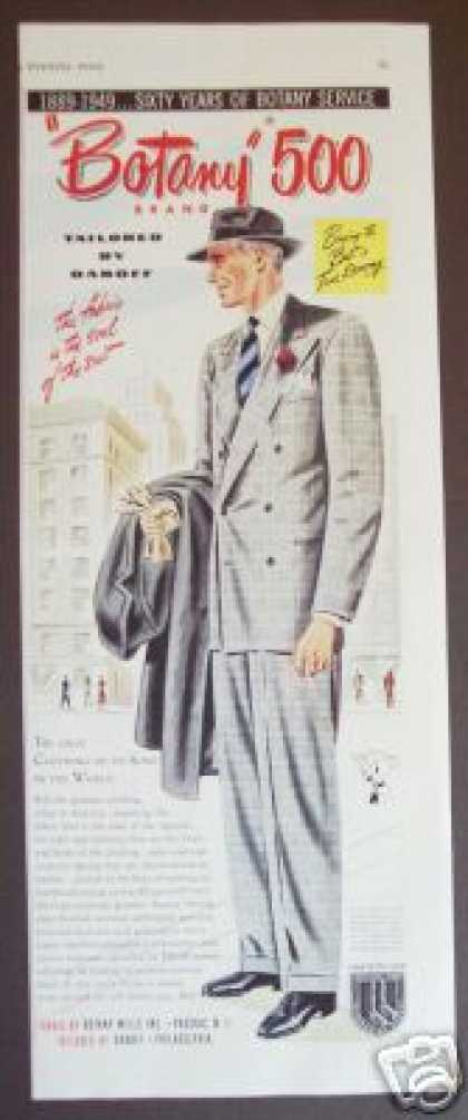 Botany 500 Men's Suit Fashion Art (1949)