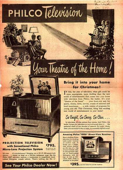 Philco's Projection Television – Philco Television: Your Theatre of the Home (1947)