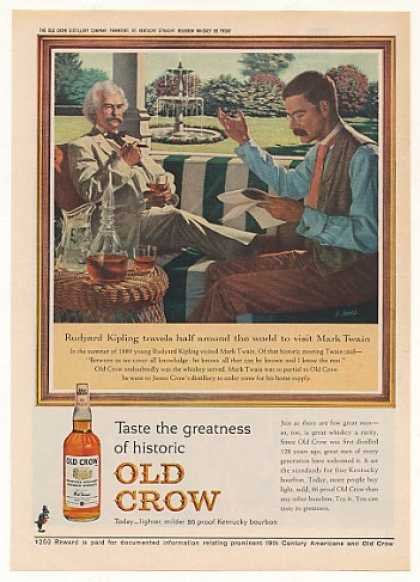 Rudyard Kipling Mark Twain Old Crow Bourbon (1963)