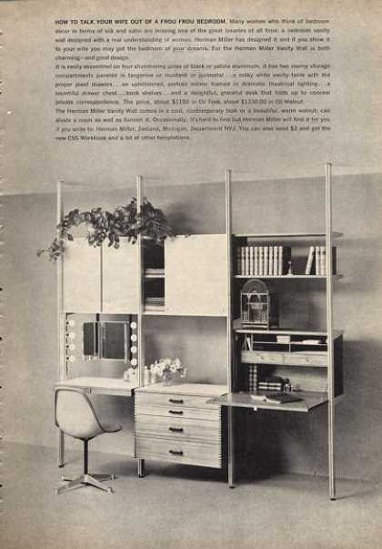 Herman Miller Designed Vanity Wall (1962)