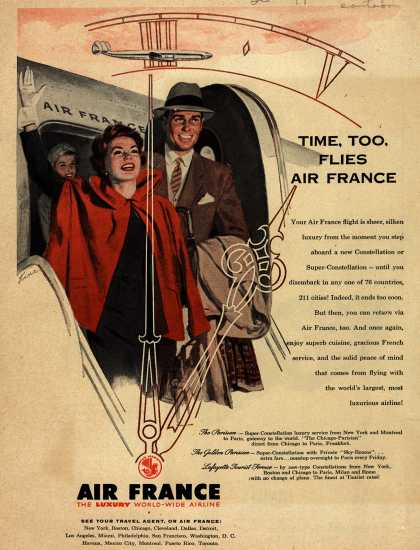 Air France – Time, Too, Flies Air France (1954)