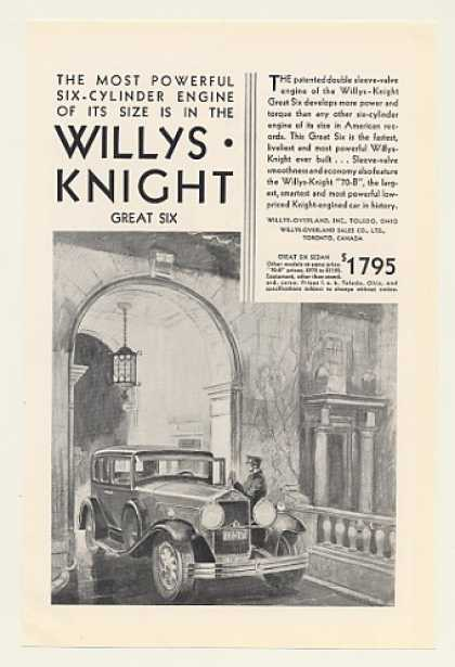 Willys-Knight Great Six Sedan $1795 (1930)