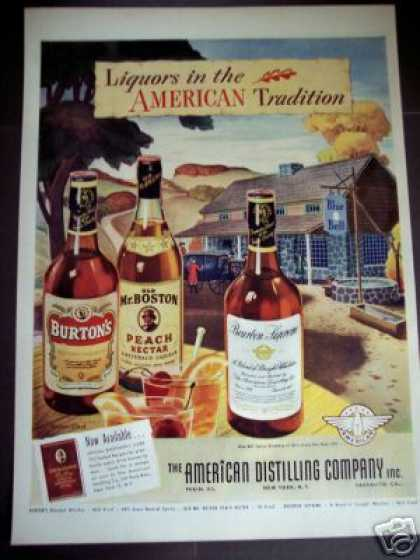 Blue Bell Tavern Ny American Distilling Co, Art (1942)