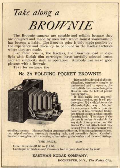 Kodak's Brownie cameras – Take along a Brownie (1912)