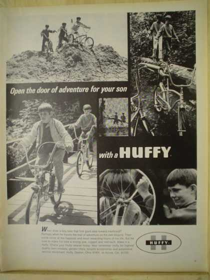 Huffy Bicycles Bikes Open a door of adventure for your son (1970)
