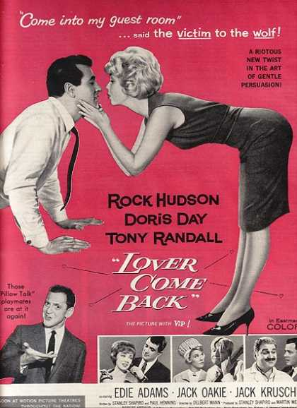 Lover Come Back (Rock Hudson, Doris Day and Tony Randall) (1962)