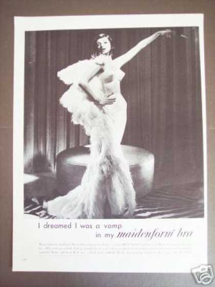 Maidenform Bra Dreamed I Was a 30's Vamp (1960)