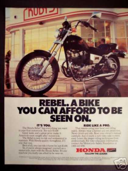 Honda Rebel Motorcycle Photo (1986)