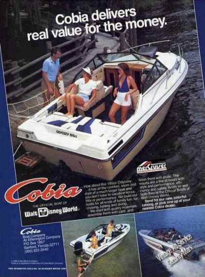 Cobia 195cc Odyssey Boat Photos Real Value (1985)