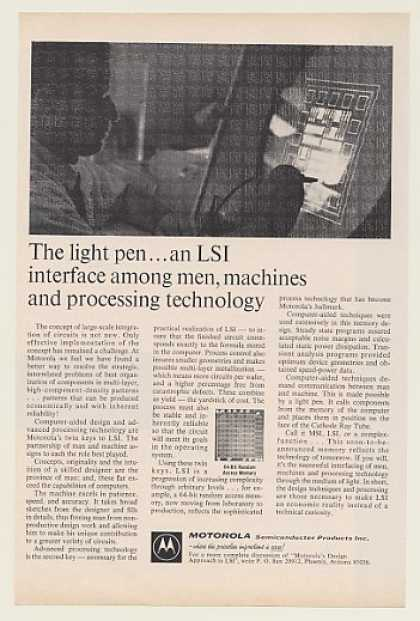 Motorola Computer Light Pen LSI Interface (1968)