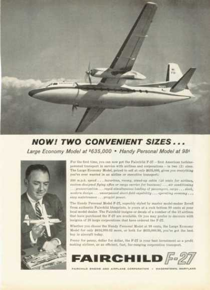 Fairchild F-27 Turbine Plane (1959)