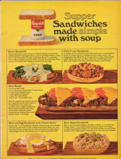 Campbell's Soup – Supper Sandwiches made Simple (1965)