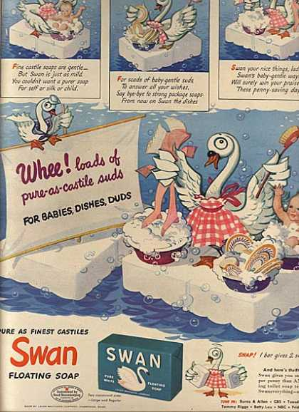 Swan's Floating Soap (1943)