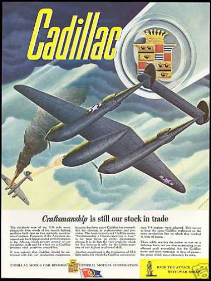 WWII P-38 Airplane Allison Engine Cadillac (1943)