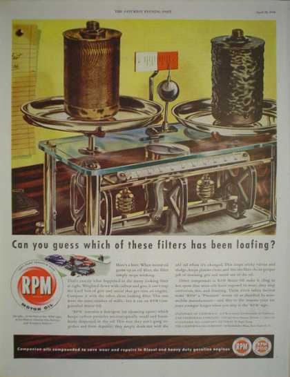 RPM Motor Oil AND Honeywell Moduflow control (1946)
