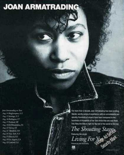 Nice Joan Armatrading Photo the Shouting Stage (1988)