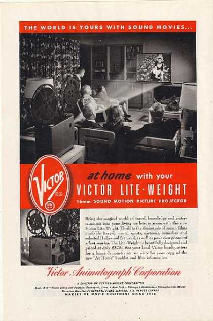Victor's Lite-Weight 16mm Sound Motion Picture Projector (1948)