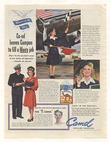 Pan Am Capt Co-ed Patricia Garner Flagger Camel (1943)