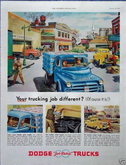 Dodge Truck Job Rated City Street Hauling Feed (1952)