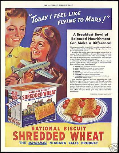 Toy Airplane NBC Shredded Wheat Cereal (1939)