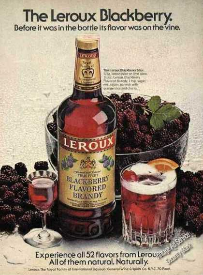 Leroux Blackberry Flavored Brandy Nice Color (1978)