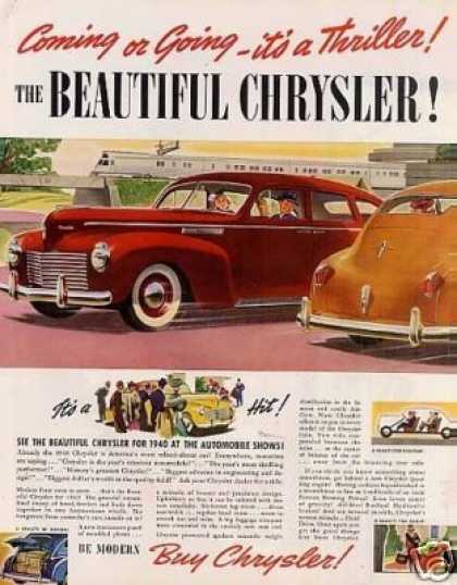 "Chrysler Car Ad ""Coming or Going... (1940)"