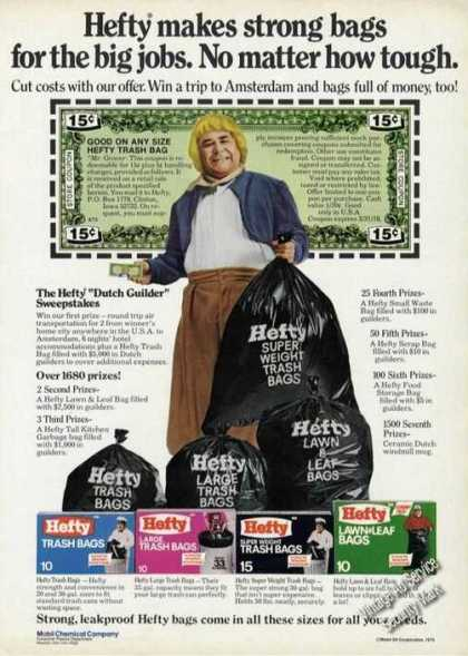 Jonathan Winters Photo Hefty Bags (1975)