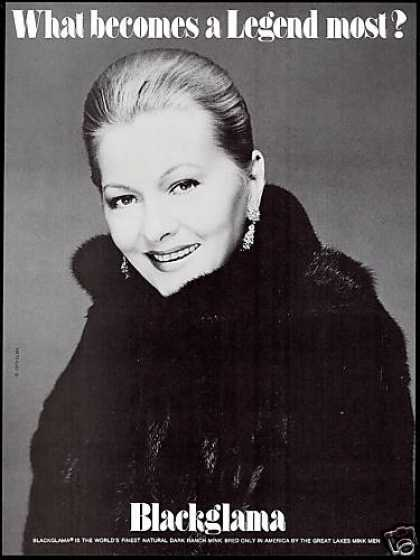 Blackglama MInk Joan Fontaine Photo Fur Coat (1979)