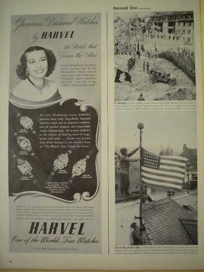 Harvel Diamond Watches One of the World's finest (1945)