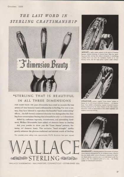 Wallace Sterling Silver Ware (1939)