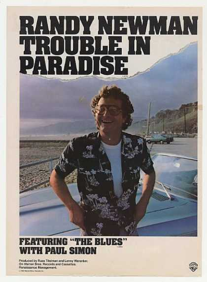 Randy Newman Trouble in Paradise Promo Photo (1983)