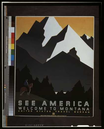 See America – Welcome to Montana / M. Weitzman. (1936)