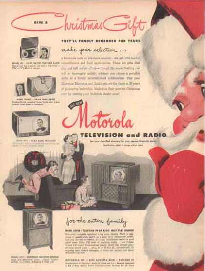 Motorola Television and Radio – Santa Claus – Sold (1949)