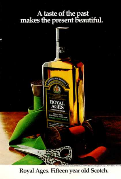 Royal Ages Scotch Whisky Bottle (1971)