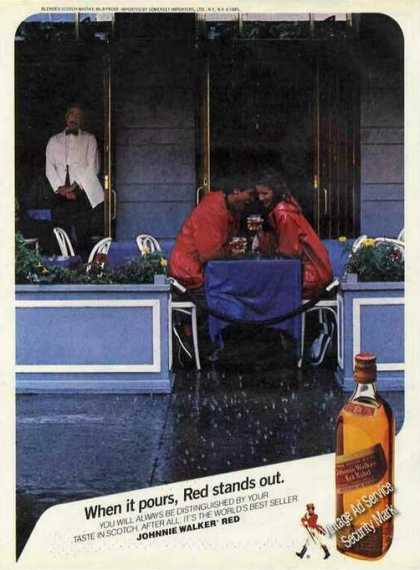 "Johnnie Walker ""When It Pours, Red Stands Out"" (1985)"
