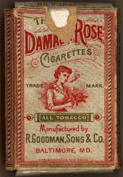 R. Goodman, Sons & Co.'s Damask Rose Cigarettes – Damask Rose Cigarettes