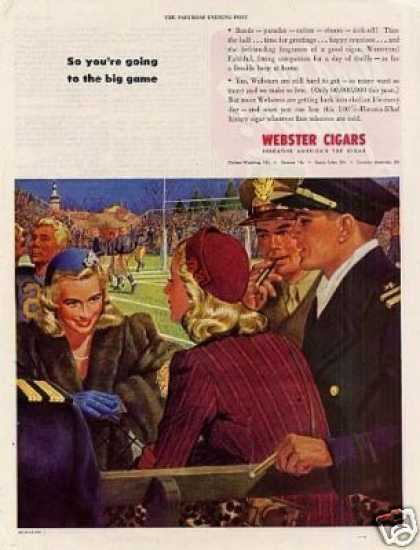 "Webster Cigars Ad ""So You're Going To... (1945)"