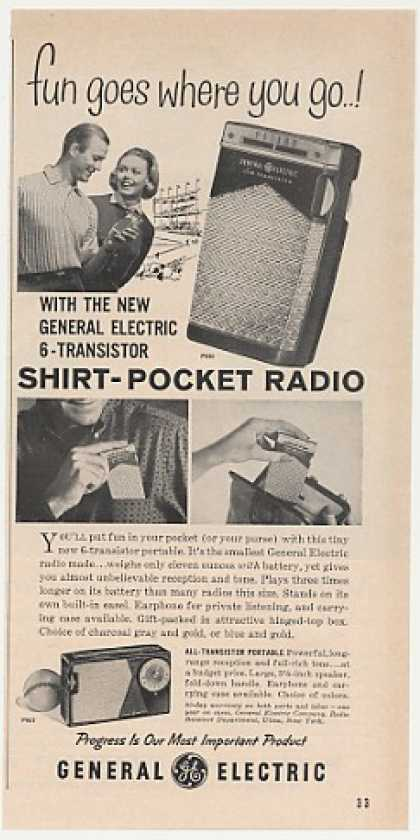 GE General Electric P830 Shirt Pocket Radio (1960)