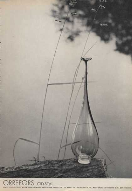 Beautiful Orrefors Crystal Photo (1962)