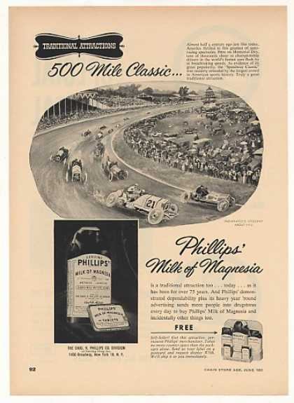 Phillips Milk of Magnesia 1910 Indy 500 Trade (1953)