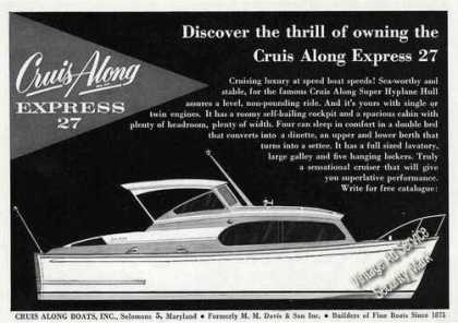 Cruis Along Express 27 Boat (1958)