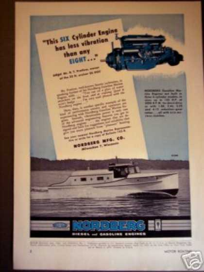 Nordberg Gas Diesel Marine Boat Engines (1950)