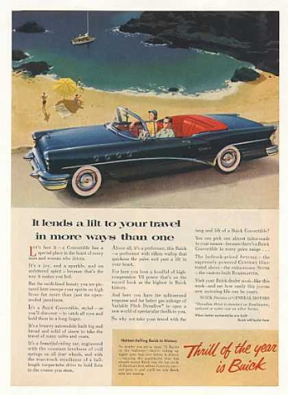 Buick Century Convertible Lends Lilt to Travel (1955)