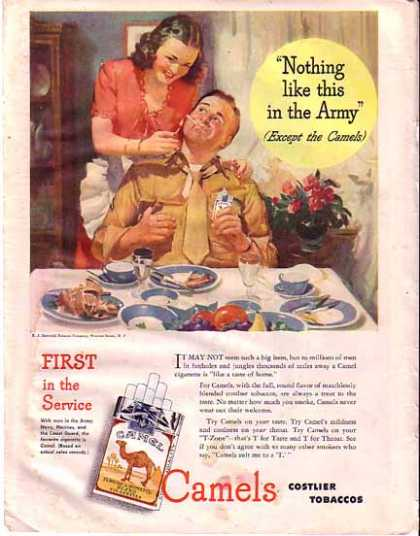 Camels Cigarettes Wartime (1945)