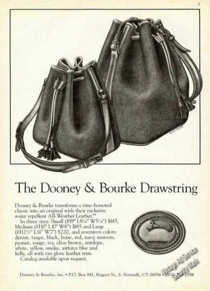 The Dooney & Bourke Drawstring Leather Fashion (1987)