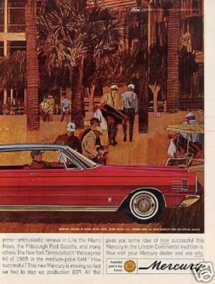 Mercury Car Ad 2 Page (1965)