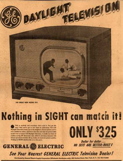General Electric Company's Television – Daylight Television Nothing in Sight can match it (1948)