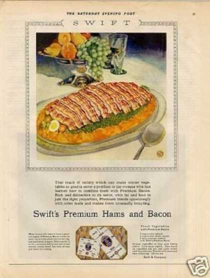 Swift's Premium Bacon Color (1928)